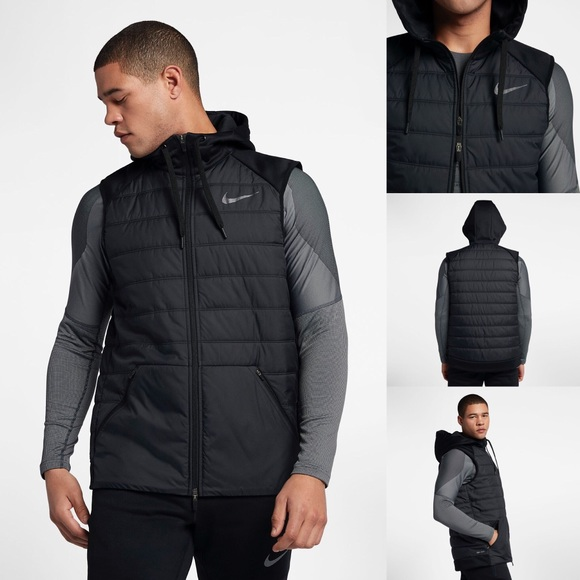 Men's Nike Therma Training Hoodie Vest   Brand New